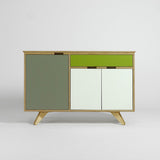 plywood sideboard - mid century style furniture - green