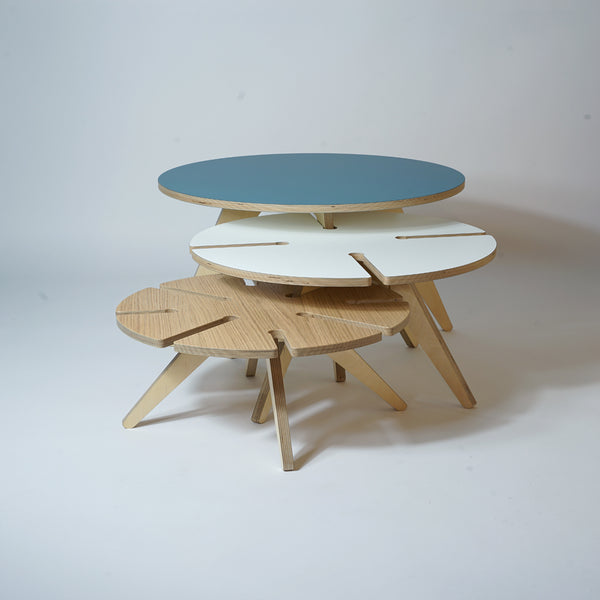 mid century modern stacking tables