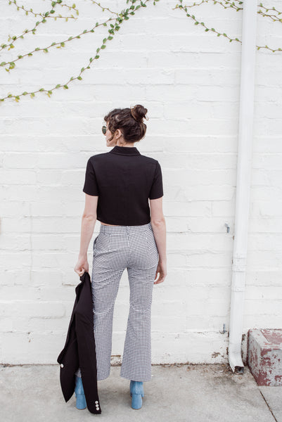 ANNIE CROPPED PANT | GINGHAM COTTON