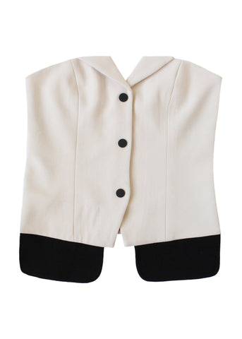 Tuxedo Snap Up Bustier, Ivory