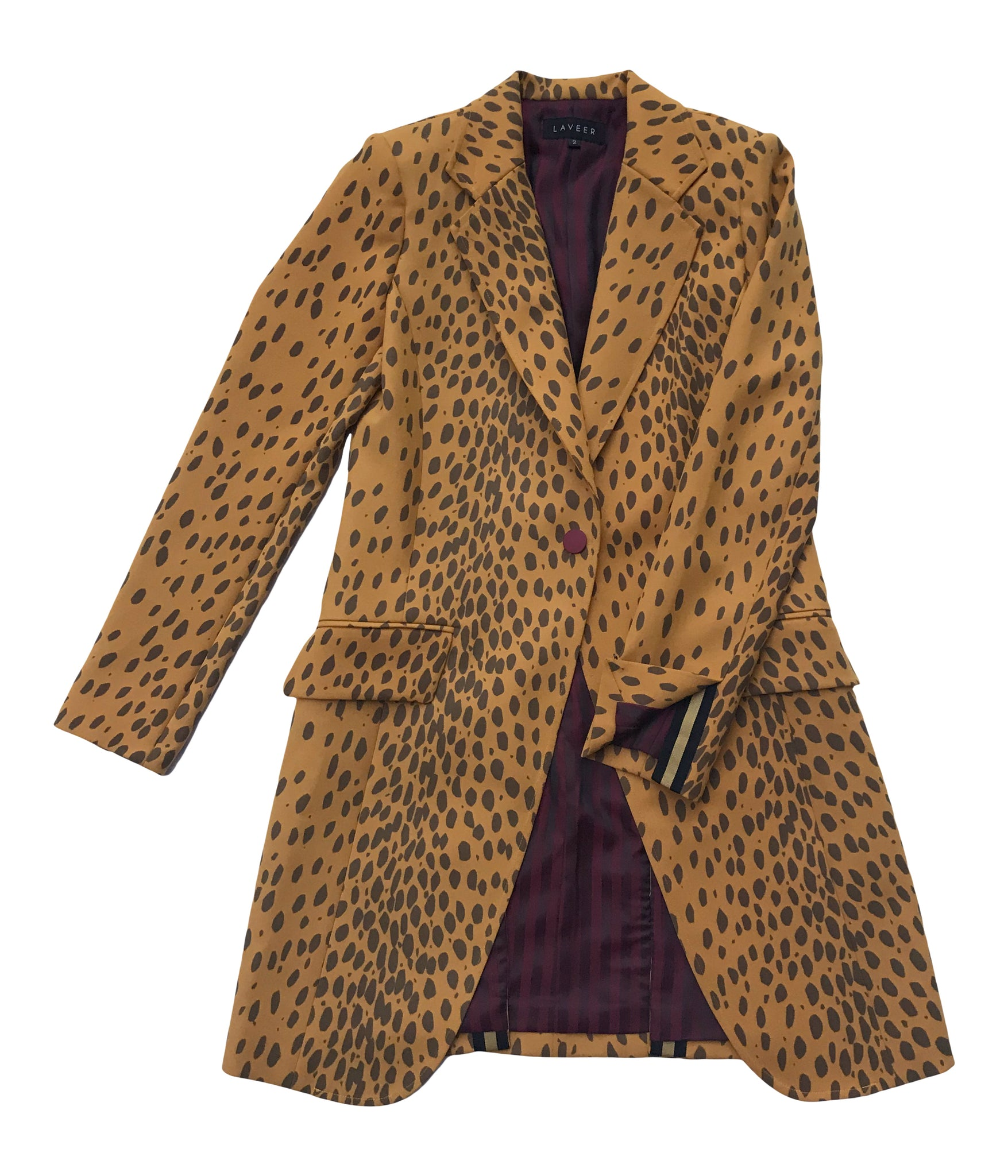 LAVEER SHARP BLAZER IN GOLDEN LEOPARD