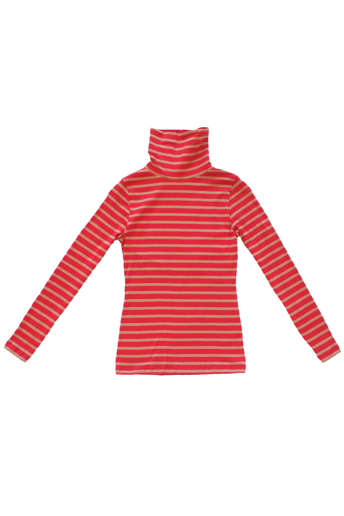 Bessette Striped Turtleneck