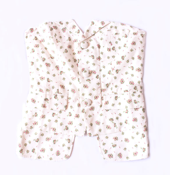 COTTON BUTTON UP BUSTIER | DITSY FLORAL