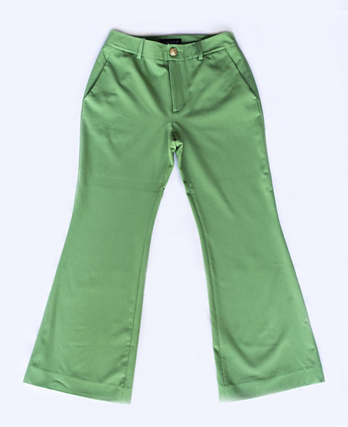 Cropped Flare Pant, Kelly Green