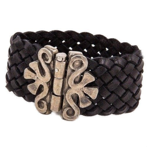 "Horseshoe Carval Bracelet - BLACK 1-1/4"" WIDE"