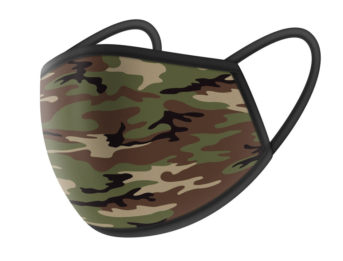 Woodland Camo Cloth Face Masks
