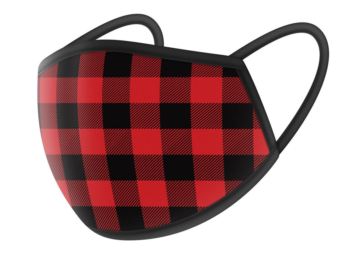 Red Flannel Design Cloth Face Masks