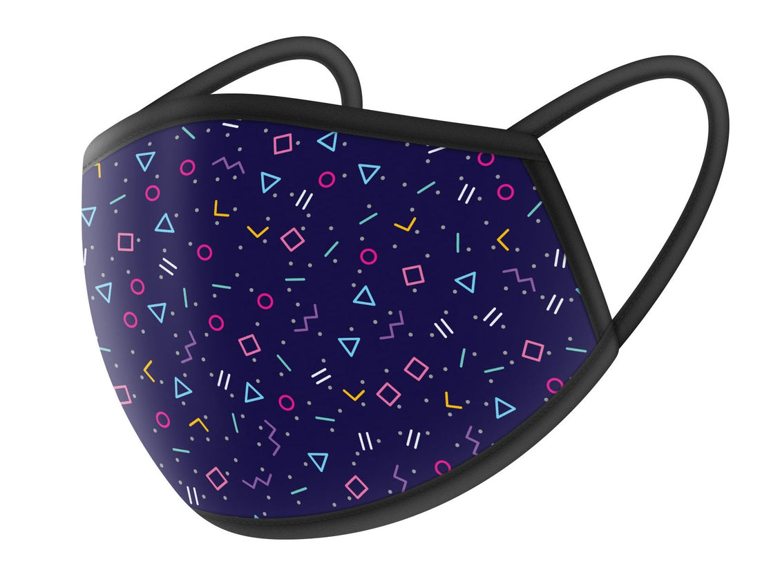 Purple with Shapes Cloth Face Masks