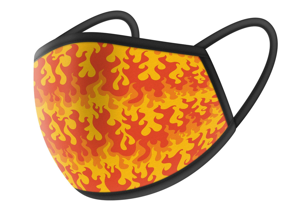 Vector Flames Cloth Face Masks