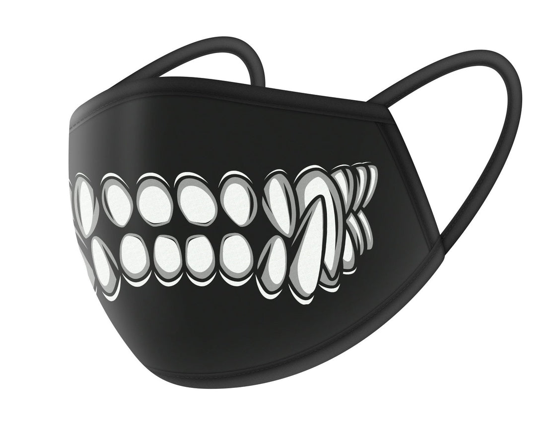 Wolf Teeth Design Cloth Face Masks