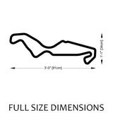 Assen Circuit TT Track Sculpture Full Size Dimensions