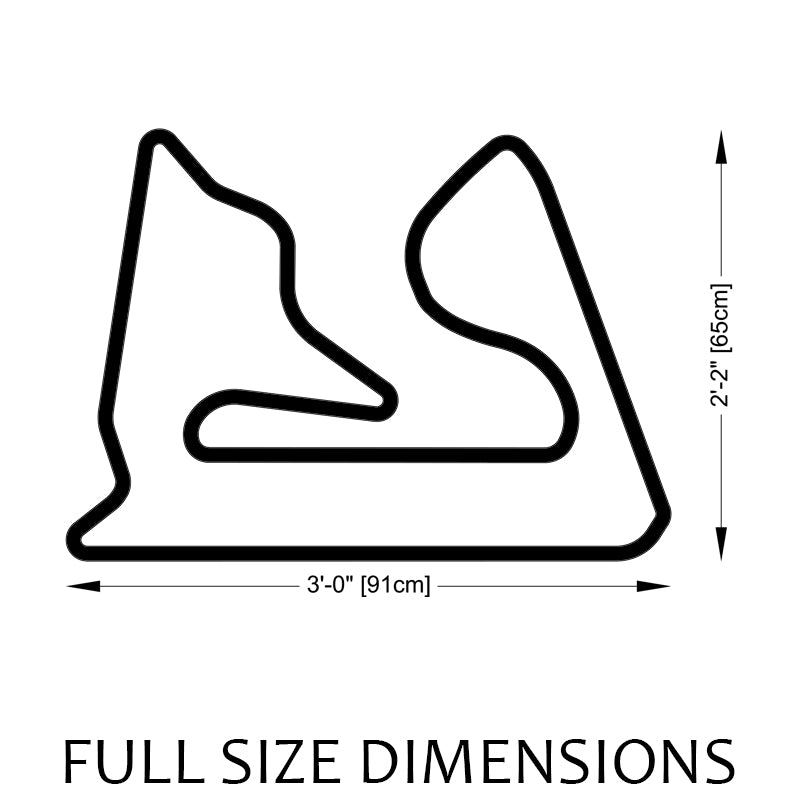 Bahrain International Circuit Sakhir Track Sculpture Full Size Dimensions