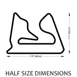 Bahrain International Circuit Sakhir Track Sculpture Half Size Dimensions