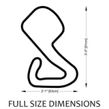Brands Hatch Circuit Track Sculpture Full Size Dimensions