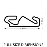 Catalunya Circuit MotoGP Track Sculpture Full Size Dimensions