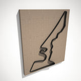 Circuit of the Americas 3D Track Sculpture Black Linen