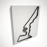 Circuit of the Americas 3D Track Sculpture Black White