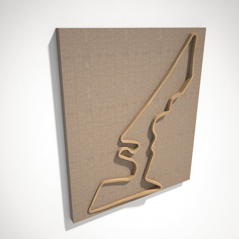 Circuit of the Americas 3D Track Sculpture Tan Linen