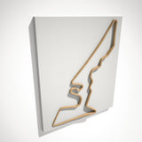 Circuit of the Americas 3D Track Sculpture Tan White