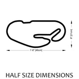 Daytona | 24 Hours of Daytona Track Sculpture Half Size Dimensions