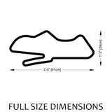 Donington Park Circuit Track Sculpture Full Size Dimensions