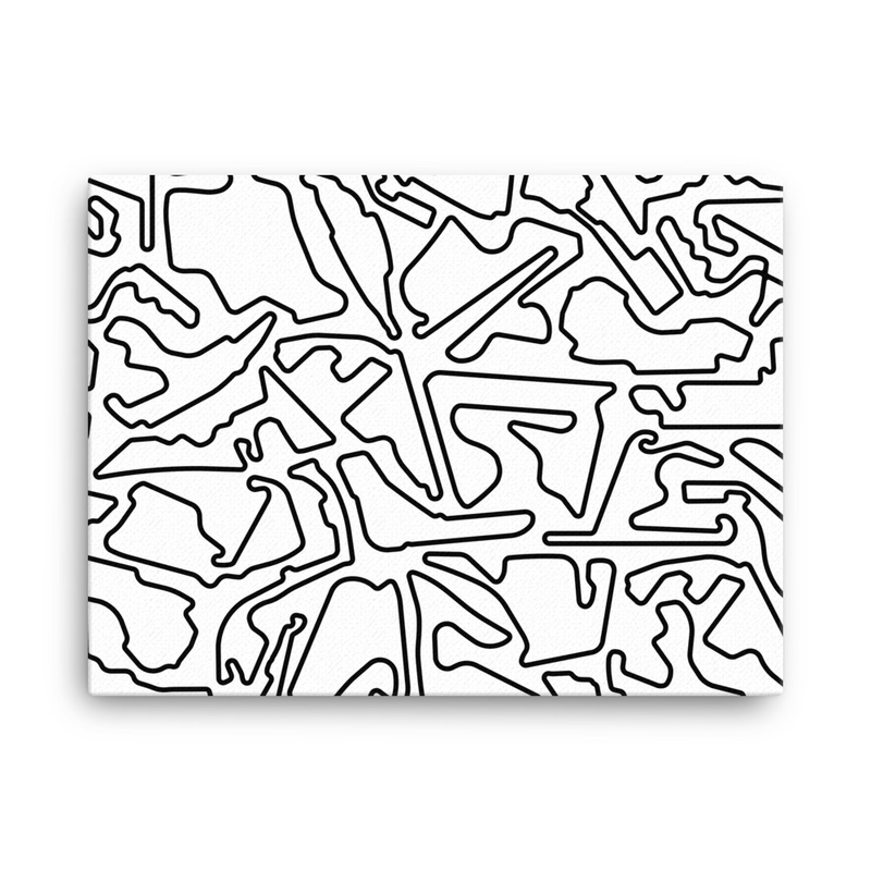 Formula 1 Tracks<br>Black / White