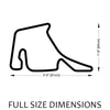 Hockenheimring Track Sculpture Full Size Dimensions