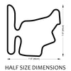 Hungaroring Track Sculpture Half Size Dimensions