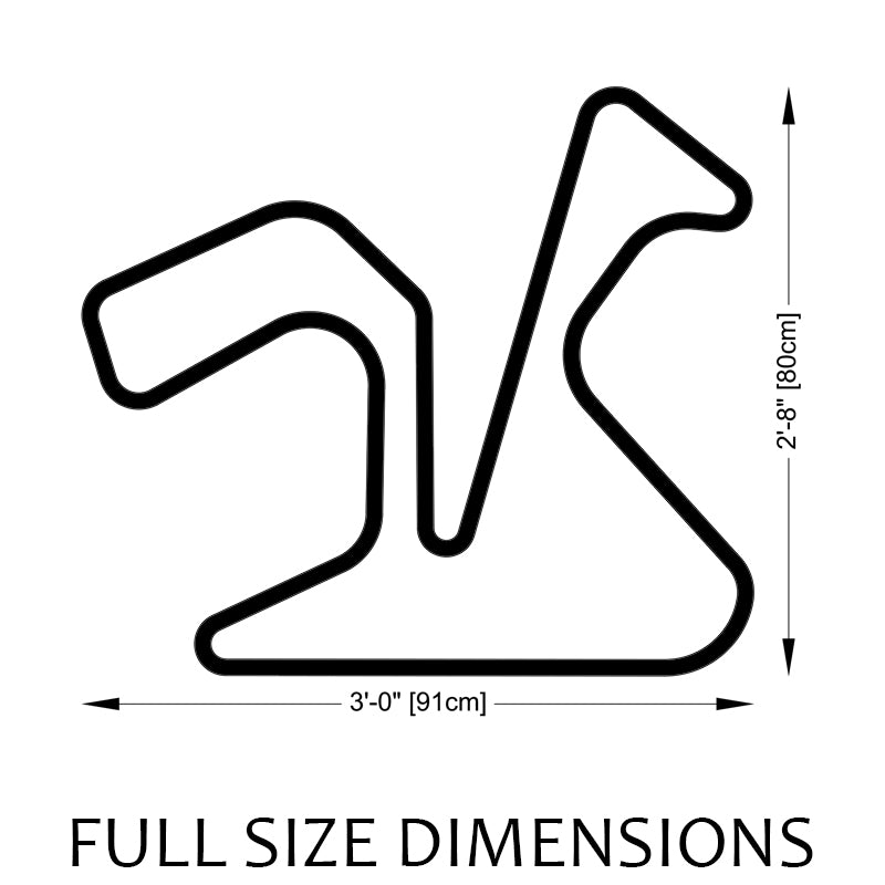Jerez Circuit Track Sculpture Full Size Dimensions