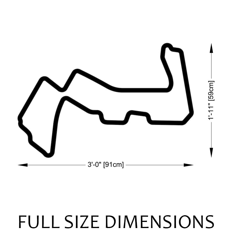 Marina Bay Street Circuit | Singapore Grand Prix Track Sculpture Full Size Dimensions