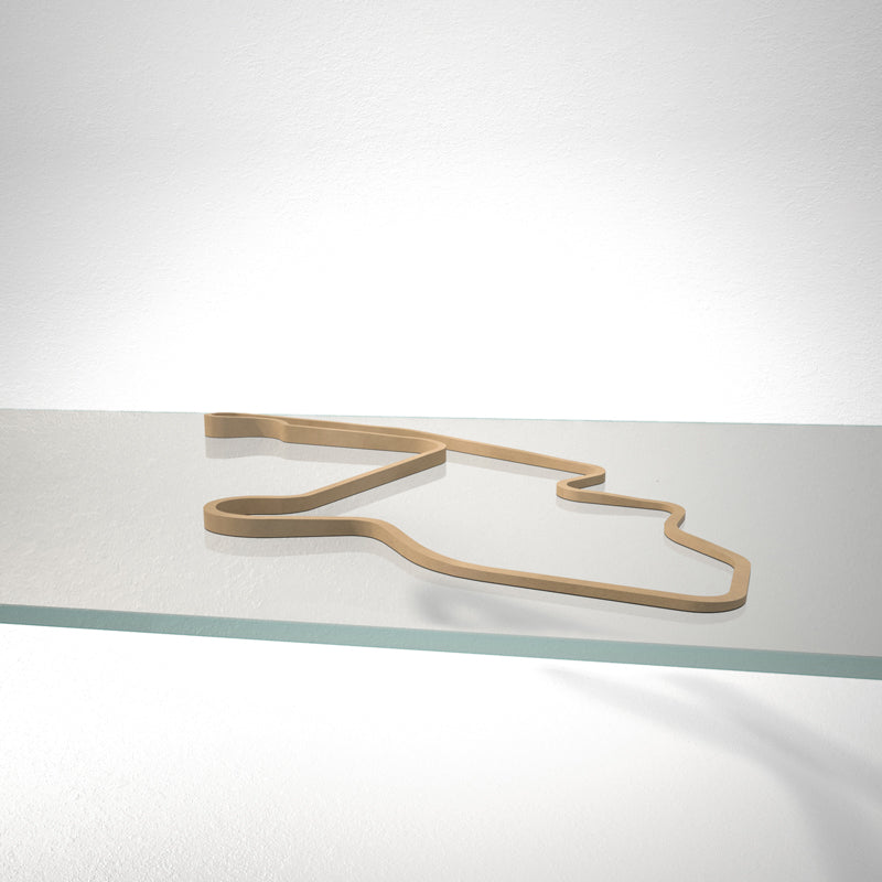 Mid-Ohio Sports Car Course 3D Track Sculpture Tan