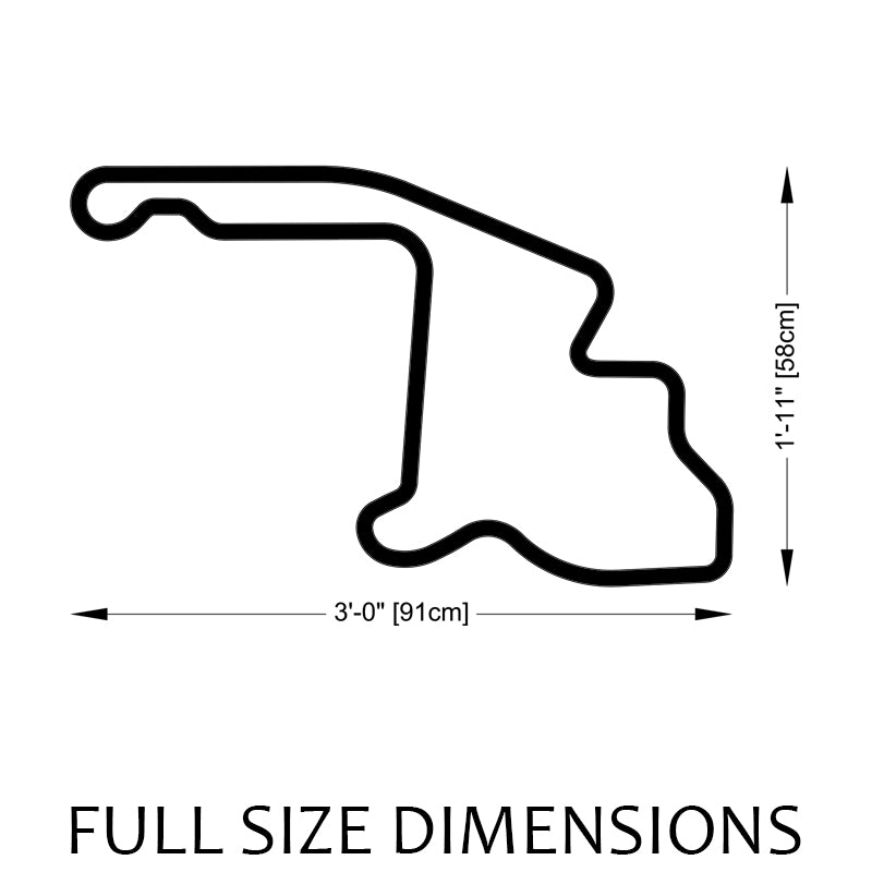 Mid-Ohio Sports Car Course Track Sculpture Full Size Dimensions