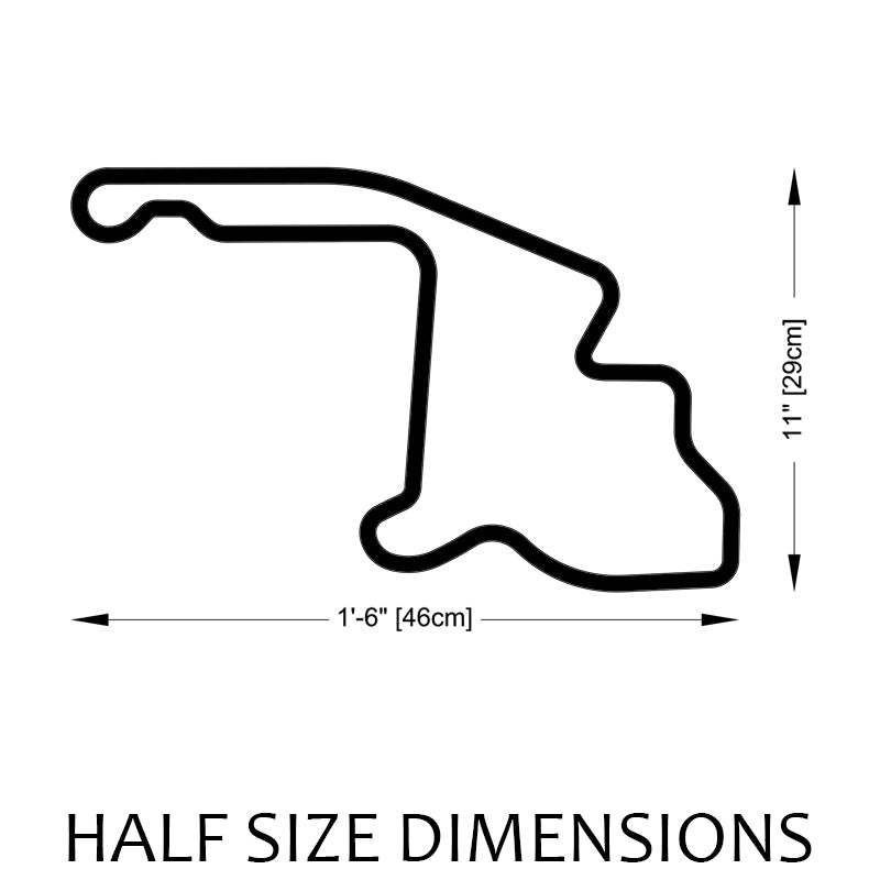 Mid-Ohio Sports Car Course Track Sculpture Half Size Dimensions