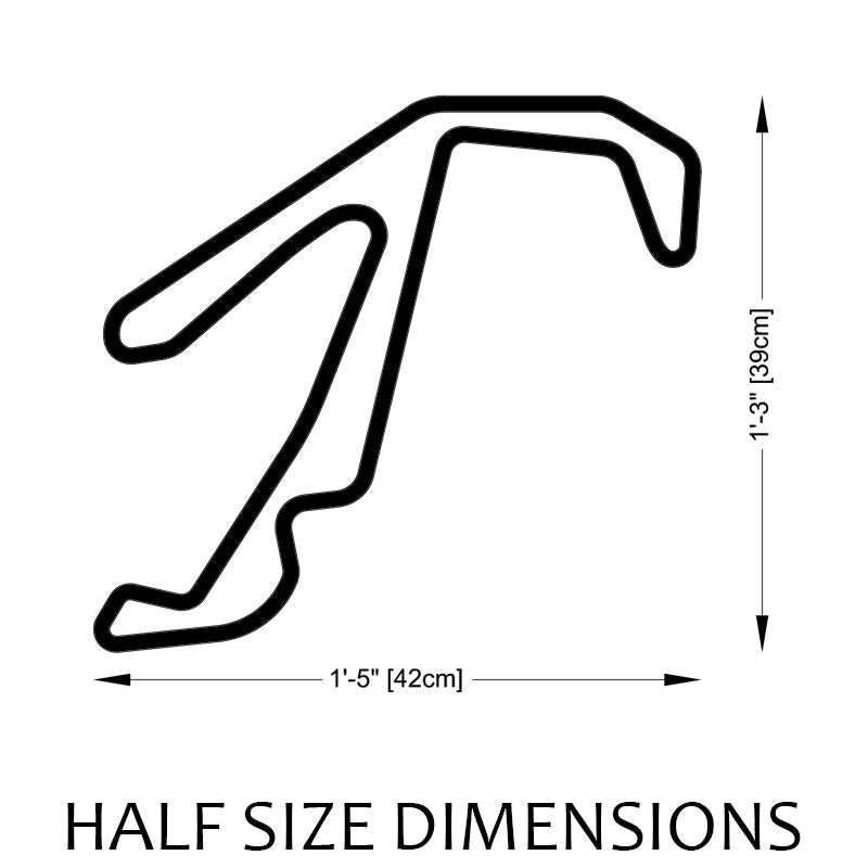 Misano World Circuit Track Sculpture Half Size Dimensions