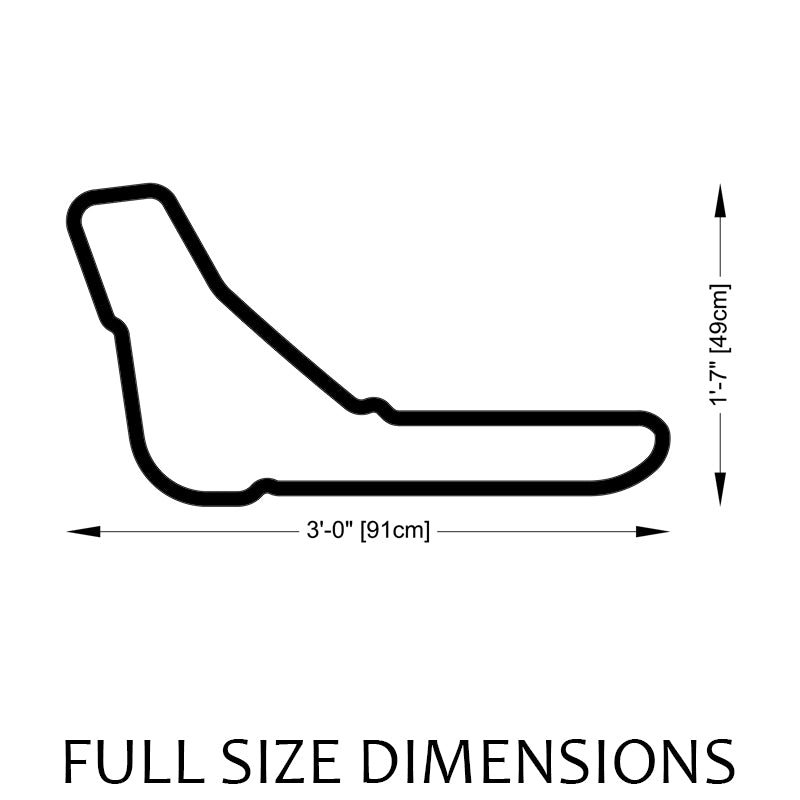 Monza Circuit Track Sculpture Full Size Dimensions