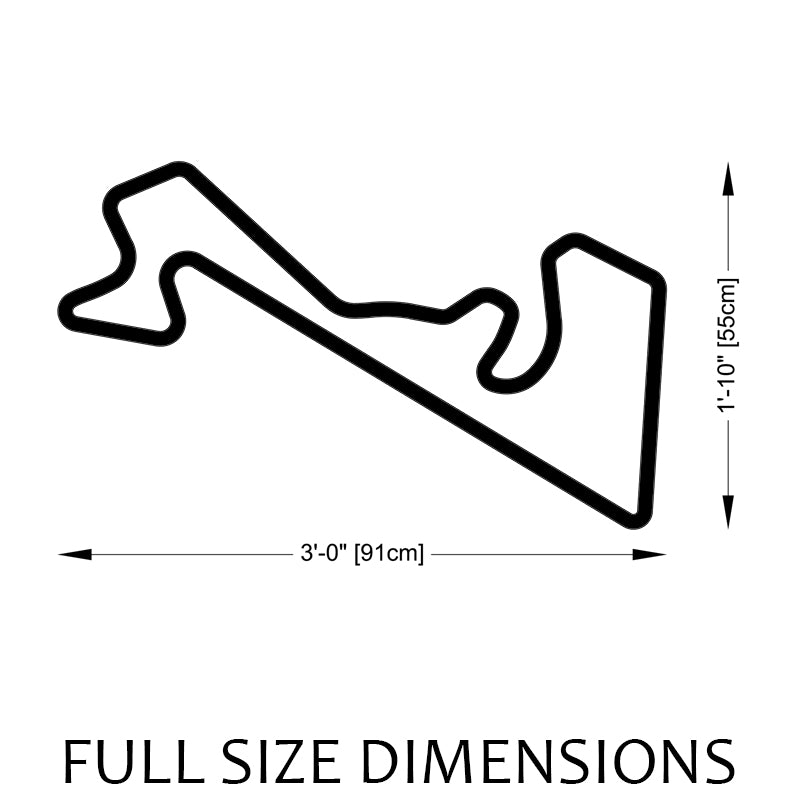 Moscow Raceway Track Sculpture Full Size Dimensions