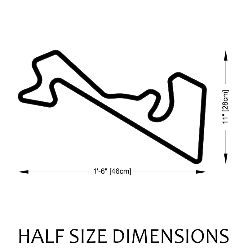 Moscow Raceway Track Sculpture Half Size Dimensions