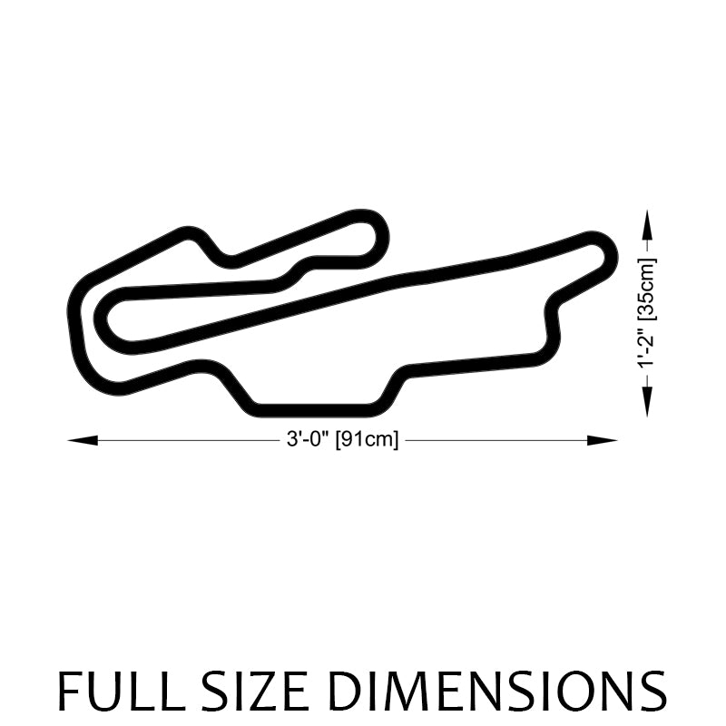 Mugello Circuit Track Sculpture Full Size Dimensions
