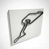 Nurburgring Grand Prix Circuit 3D Track Sculpture Black White
