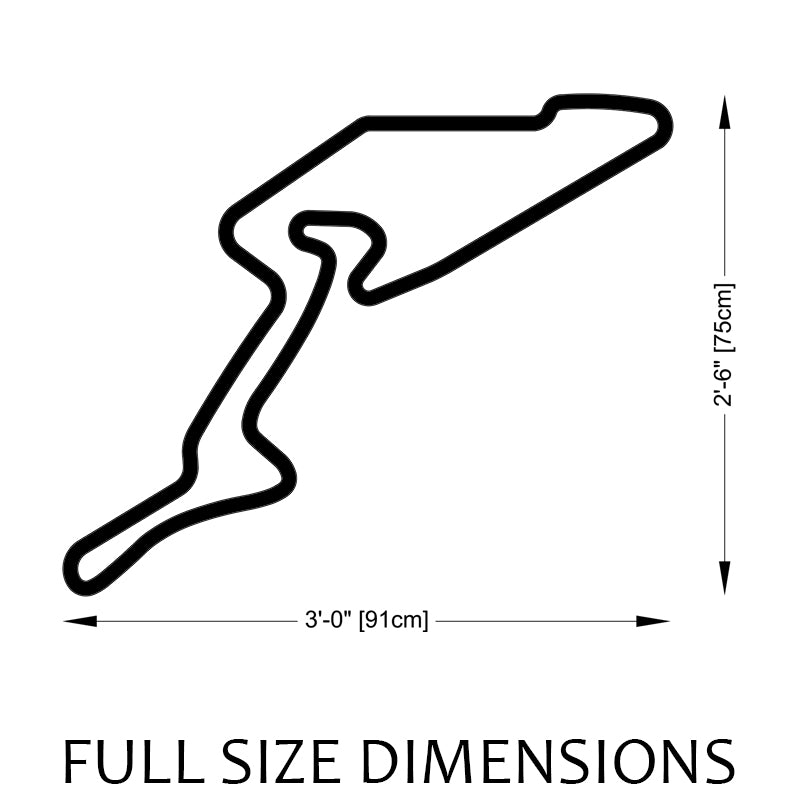 Nurburgring Grand Prix Circuit Track Sculpture Full Size Dimensions