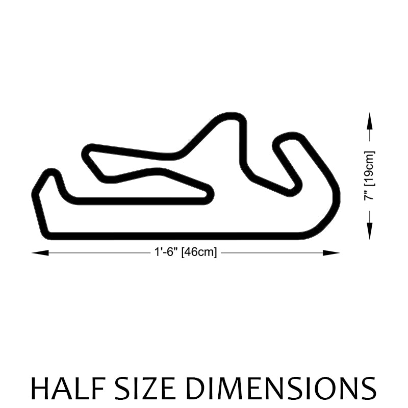 Portimao Circuit | Algarve International Track Sculpture Half Size Dimensions