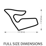 Red Bull Ring Track Sculpture Full Size Dimensions