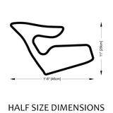 Red Bull Ring Track Sculpture Half Size Dimensions