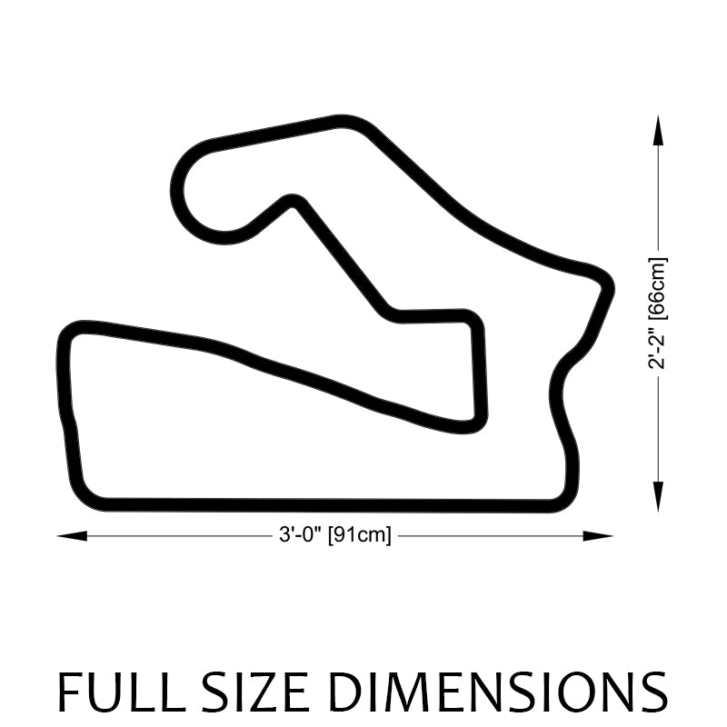 Road America Track Sculpture Full Size Dimensions