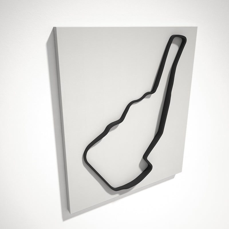 Road Atlanta 3D Track Sculpture Black White