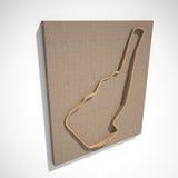 Road Atlanta 3D Track Sculpture Tan Linen