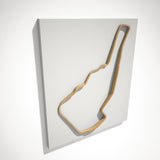 Road Atlanta 3D Track Sculpture Tan White