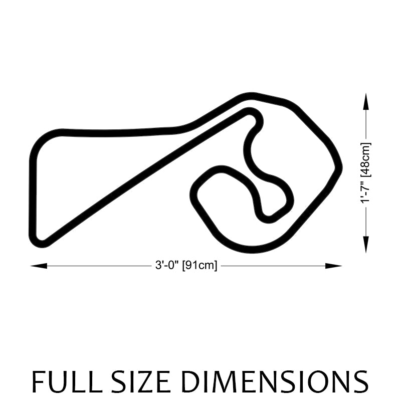 Sachsenring Track Sculpture Full Size Dimensions