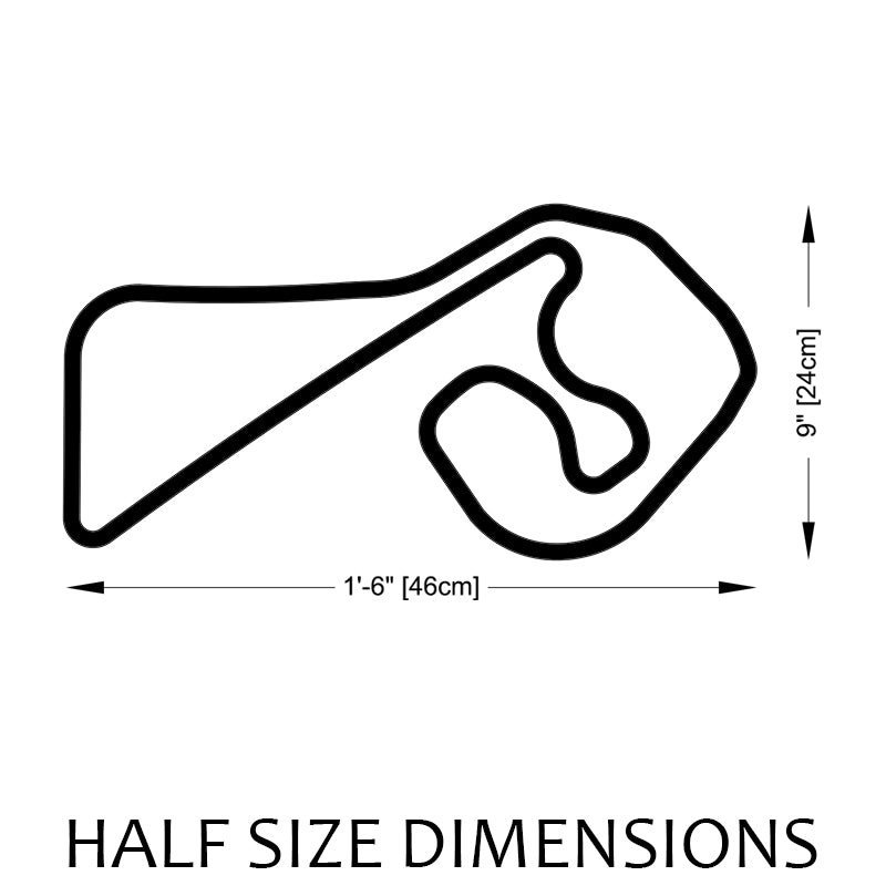 Sachsenring Track Sculpture Half Size Dimensions