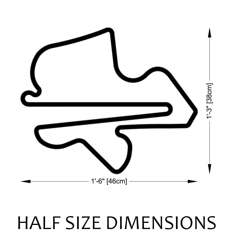 Sepang International Circuit Track Sculpture Half Size Dimensions